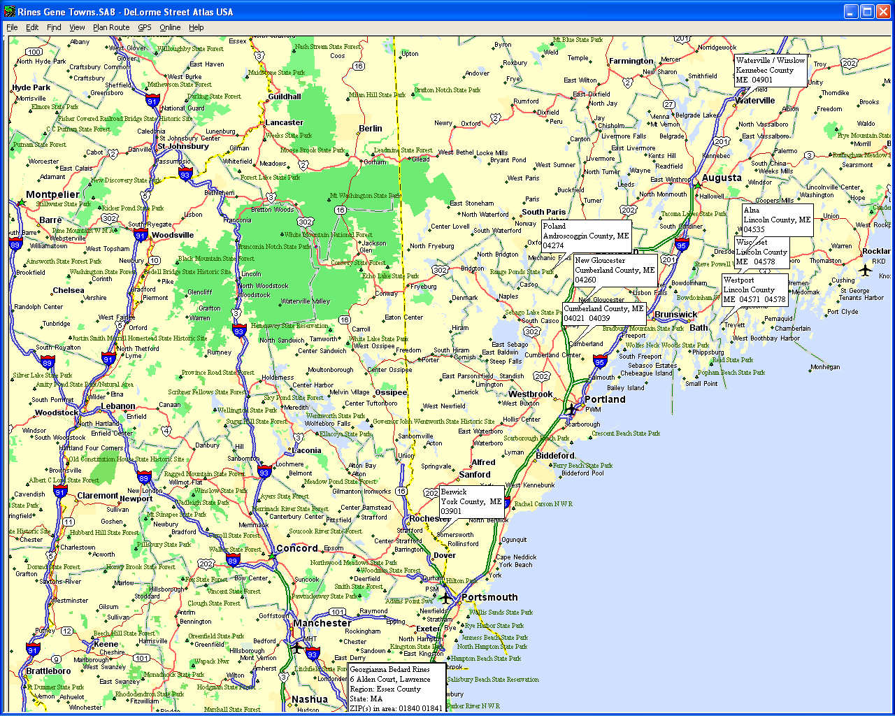 Brilliant Map Of Maine Towns And Cities Swimnovacom - Maine towns map